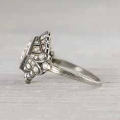 .97 Carat Art Deco Vintage Engagement Ring | Vintage & Antique Engagement Rings | Erstwhile Jewelry Co NY
