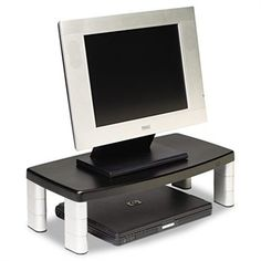 Double your desk space - hmmm ... how many inches can this go up?