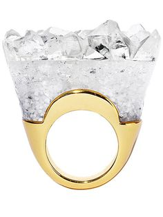 A sculptural ring that really rocks. Alexis bittar ring.