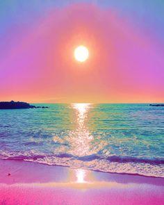Phone Wallpaper Pink, Words Wallpaper, Aesthetic Desktop Wallpaper, Beach Wallpaper, Wallpaper Pictures, Cellphone Wallpaper, Purple Beach, Pink Ocean, Beautiful Landscape Wallpaper