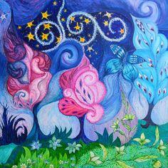 Sonho de Liberdade - acrílica s/painel - 80 x 80 - 2015