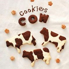 Aluminium Cookie Cutter - Cow on Carousell Cute Snacks, Cute Desserts, Dessert Recipes, Formation Patisserie, Cow Cookies, Cute Baking, Cafe Food, Aesthetic Food, Cakepops