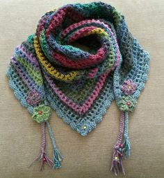 Road trip scarf. Pattern by Zooty Owl. http://zootyowlcards.blogspot.co.uk/2014/06/road-trip-scarves-pattern.html