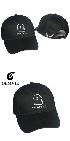 Gianni Mora You Got It Black Cap Hat Casual Letters And Cartoon Baseball Hats Cotton Caps Gifts For Women And  Men