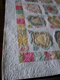 French Rose Quilt - good display of exceptional machine quilting by brenda1967