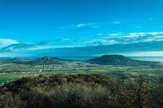 Old dead volcanos are vitnesses of prehistorical geological ages. Badacsony, Gulács, Tóti-hegy. Balaton-highlands, Hungary.