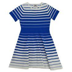 MN60Q-26-192DK062094-B Degrade Stripe Knit Flare Dress