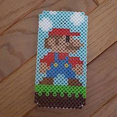 Mario phone case perler beads  by Jessica