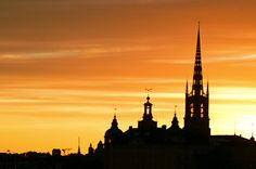 Sunset in Stockholm - Riddarholm Church