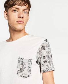 ZARA MAN T SHIRT WITH PATCHES | ⊙B⊙ en 2019 | Ropa