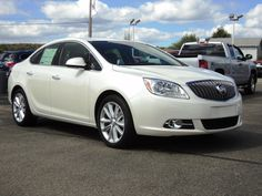 2013 Buick Verano in Diamond White. The Verano gives you unexpected and unprecedented luxury for a vehicle this size.  www.CrottyChevy.com