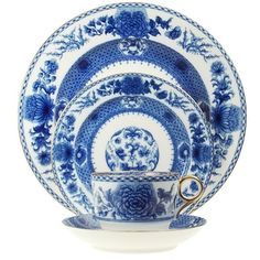 Mottahedeh Imperial Blue 5 Piece Place Setting