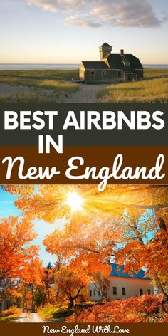 From treehouses to lighthouses, cabins to castles, we share 20+ of the coolest and best AirBnbs in New England for your next vacation. Fall Vacations, Vacation Trips, Day Trips, New England Fall, New England Travel, Weekend In New England, Beach Trip, Beach Travel, Travel Usa
