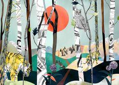 """Illustration """"Sibiriska tigrar"""" Emma Löfström"""
