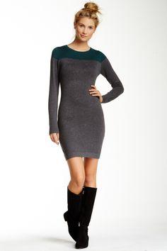 Long Sleeve Contrast Sweater Dress by Tart on @nordstrom_rack