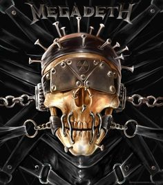 The Skull Beneath The Skin is pretty much how Vic Rattlehead gets made. Arte Heavy Metal, Heavy Metal Music, Heavy Metal Bands, Power Metal, Rock Posters, Band Posters, Music Posters, Hard Rock, Megadeth Albums