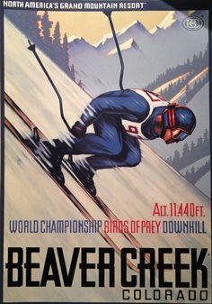 beaver creek ski poster