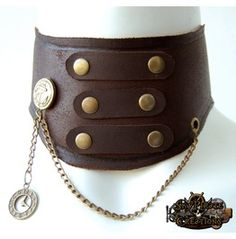 Items similar to Steampunk Josephine Leather Neck Corset Posture Collar on Etsy Neck Cramp, Posture Collar, Slave Collar, Cute Necklace, Leather Tooling, Wearable Art, Collars, Steampunk, Chokers
