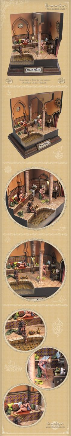 Hammâm - The Turkish Bath. Hasselfree figures by Crackpot