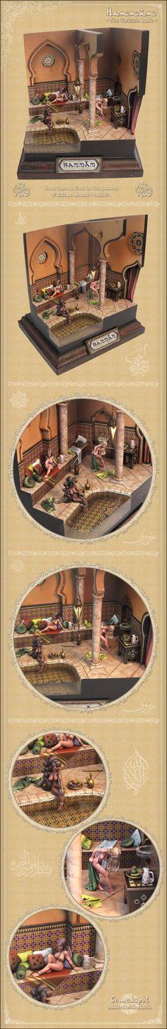 Hammâm - The Turkish Bath. Hasselfree figures by Crackpot