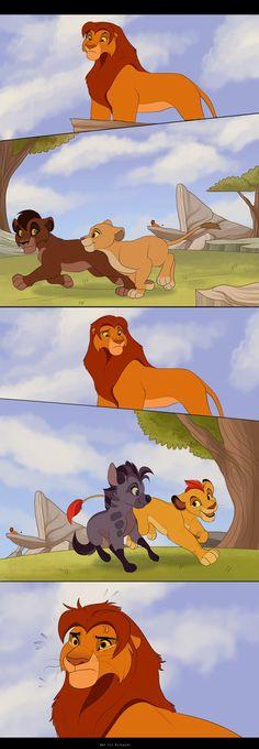 Simba's Dilemma by Kitchiki on DeviantArt