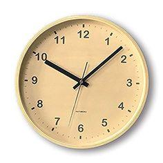KATOMOKU plywood wall clock ナチュラル 電波時計 連続秒針 km-34MRC φ252mm