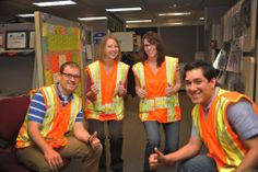 KDOT employees in Topeka participate in Go Orange in Kansas to support National Work Zone Awareness Week from April 7-11, 2014.