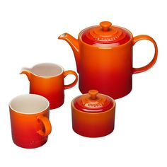 If you have a tea set, why not have it in federal-penitentiary orange?