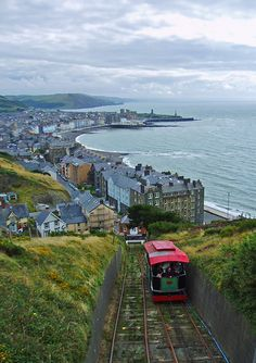 Aberystwyth Cliff Railway, Aberystwyth, Dyfed, Wales Shared by Motorcycle Fairings - Motocc Oh The Places You'll Go, Places To Visit, Wales Uk, North Wales, Aberystwyth, Snowdonia, Places Of Interest, British Isles, Great Britain