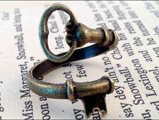 SKELTON KEY RING antique bronze adjustable steam punk unusual gift secret santa