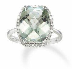 greeny amethyst 6.5 carat