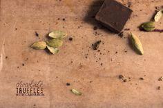 chocolate cardamom truffles