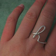 Custom Initial Ring-any initial available cute
