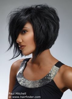 layered bob (i'd do this and make it asymmetrical ... perhaps when i have given up growing out my hair?)