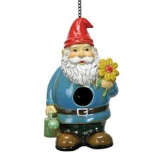 Natures Garden Bird House Gnome ** This is an Amazon Associate's Pin. Item can be found on Amazon website by clicking the image.