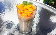 Fruity Chia-Seed Pudding with a Hint of Basil Delicious Vegan Recipes, Chia Seeds, Basil, Pudding, Breakfast, Healthy, Food, Yummy Vegan Recipes, Morning Coffee