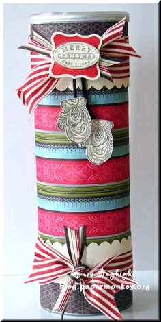 DIY Cookie Tin (made from Pringles can) Diy Arts And Crafts, Crafts For Kids, Paper Crafts, Homemade Christmas Gifts, Homemade Gifts, Craft Gifts, Diy Gifts, Pringles Can, Pots