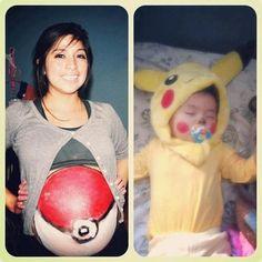 cutest maternity & baby photo! pokemon!