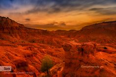 The red planet - Pinned by Mak Khalaf Teruel badlands by night Landscapes Españaaragonbadlandsnightspainteruel by jotagphotography