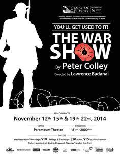 Poster:The War Show Paramount Theater, Design Consultant, Theatre, Musicals, War, Poster, Theater, Posters, Billboard