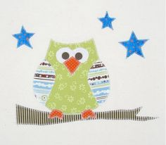 Night Owl Applique Template for baby quilt
