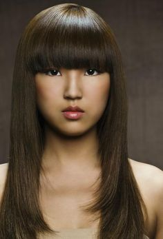 Top 20 Dreamy for Asian Women – HairstyleCamp wild hair color ideas for dark hair - Hair Color Ideas Hair Styles 2014, Medium Hair Styles, Long Hair Styles, Hair Color Auburn, Hair Color Dark, Auburn Hair, Oval Face Hairstyles, Hairstyles With Bangs, Olive Oil Hair Treatment