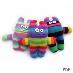 Make your own sock monster, PDF instructions £4.00