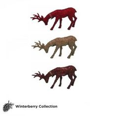 10 in. Winterberry Feeding Reindeer-C-12136A at The Home Depot  $9.97