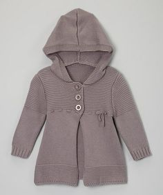 Take a look at this Gray Hooded Knit Duster - Toddler & Kids by Sweet Charlotte on #zulily today!