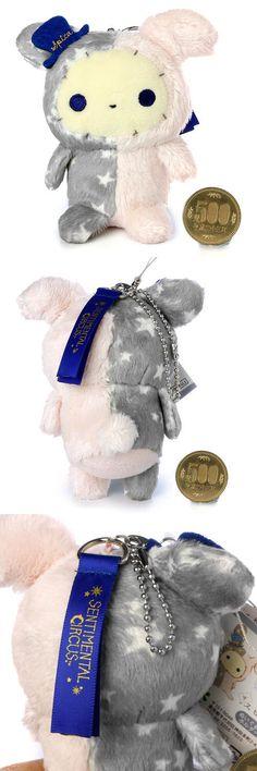 San-x Sentimental Circus Classic Grey Bunny steel Bead Chain | Charm plush doll MR08801