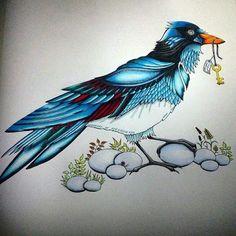 . Floresta Encantada/ Pássaro /Johanna Basford