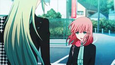 Ukyo looks so adorable here looking at Heroine!! Gif. •Amnesia•