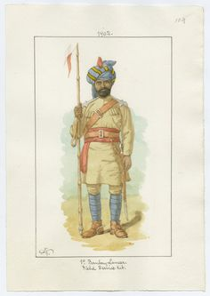 Indian Army; 1st Bombay Lancers, Sowar, Field Service Order, 1902 by Charles Lyall.