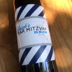 Bar Mitzvah Wine Labels, Bat Mitzvah, Favor, Star of David, Table Numbers, Jewish Party, Birthday, Custom, Personalized, Decoration, Sticker by DesignsByTenisha